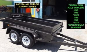 AUSSIE BUILT 8x5 TANDEM TRAILERS HIGH SIDES WITHNEW TYRES & RIMS Inverell Area Preview