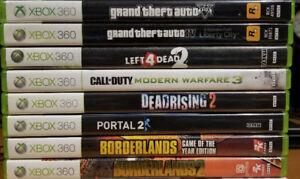Xbox 360 Games – Left4Dead, COD, Borderlands, GTA IV+V, Portal