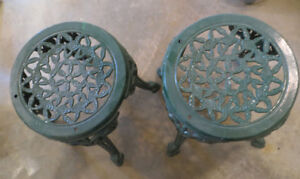 Patio Side Tables - Cast Iron