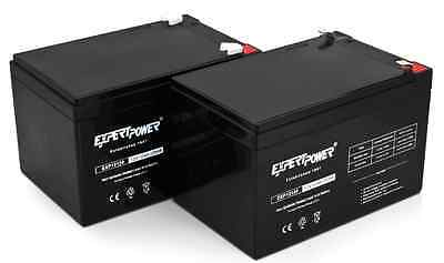 ExpertPower Set of 2 - 12V 12Ah Sealed Lead Acid AGM SLA BATTERY [12volt 12amp]
