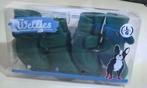 Jelly Wellies - Dog Boots - Green