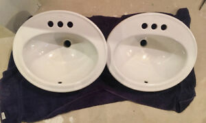 2 x KOHLER Pennington Bathroom Sinks in White - NEW!