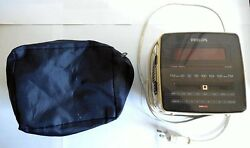 Philips Magnavox Alarm Clock w/ Radio D-3110- Retro Style Very Cool