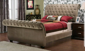 Queen Sleigh Bed *FRAME ONLY *