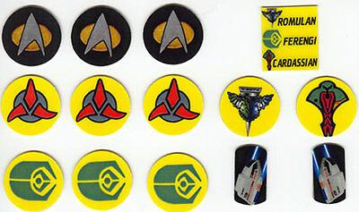 Star Trek The Next Generation Pinball Target Decal Set