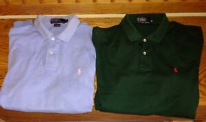 Two Ralph Lauren Polo short-sleeve shirts for Sale