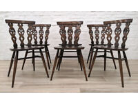 Six Ercol Dining Chairs (DELIVERY AVAILABLE)
