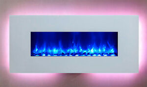 "Dynasty 58"" Wall Mount Electric Fireplace-EF69-WGR(Freeshipping)"