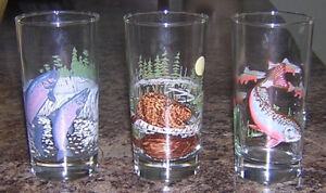 THREE 1982 IRVING OIL COLLECTIBLE WILDLIFE GLASSES