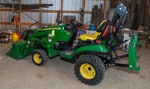 John Deere 1026R Sub-Compact Utility Tractor & Implements