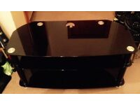 Piano Black Large Tv Stand