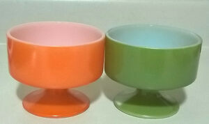 Vintage Milk Glass Federal Sherbet Cups/ Footed Pedestal Dishes