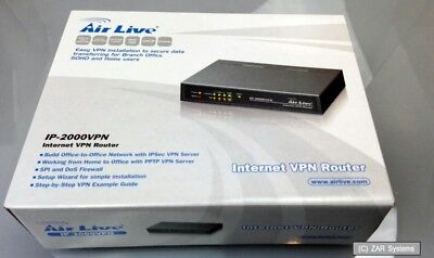 - Airlive IP-2000VPN Internet VPN Router PPTP VPN Server, IPSec VPN Server, NEU