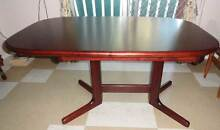 OVAL HAND MADE MAHOGANY TIMBER EXTENDABLE TABLE Russell Lea Canada Bay Area Preview