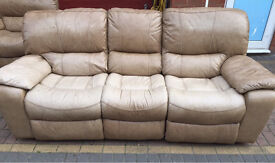 3 seater recliner sofa with matching arm hair