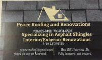 Free reshingle quotes for spring / summer roofing season .