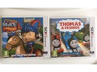 Thomas & Friends and Mike the Knight Nintendo DS Games (new)