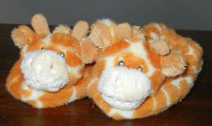 LIKE NEW Russ Baby GIRAFFE Infant Slippers