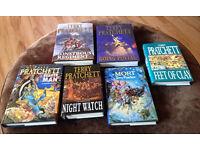 6 Terry Pratchett hardback books