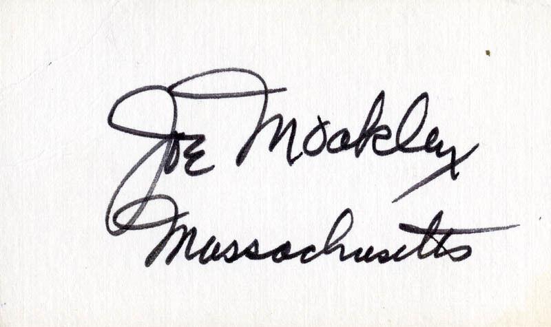 JOE MOAKLEY - SIGNATURE(S)