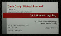 O&R Eavestroughing. Soffit/Fascia/Eaves. BBB Accredited.