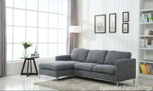 """New Year Sale""Brand new Contemporay Elegant 2 Pc Gray Fabr"