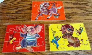 RARE VINTAGE WOODEN. 3 IN 1 ANIMAL JIGSAW PUZZLE 27 PIECES Gatineau Ottawa / Gatineau Area image 3