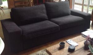 HOUSSE / COVER gris très foncé canapé Kivik Ikea 3places