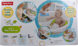 fisher price 4 in1 sling bath tub