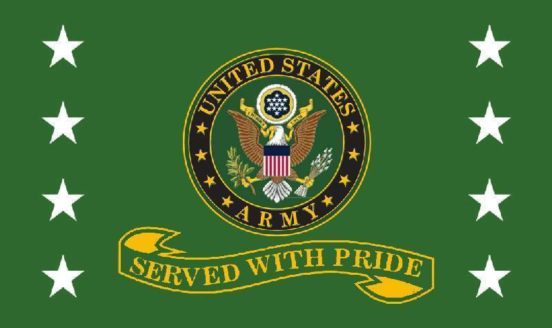 3x5 Army Served With Pride Flag US Army Retired Veteran Bann