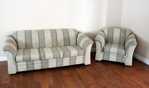 Beautiful Modern Contemporary Sofa & Chair Set SEE VIDEO