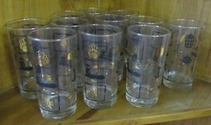 11 Vintage Glasses from 60's