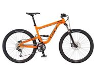GT 2017 full suspension mountain bike, 1 week old open to sensible offers, cost £1000