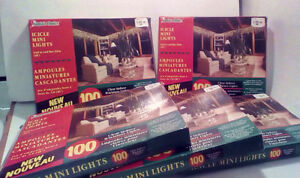 INDOOR ICICLE LIGHTS: Nice and bright !  5 boxes..