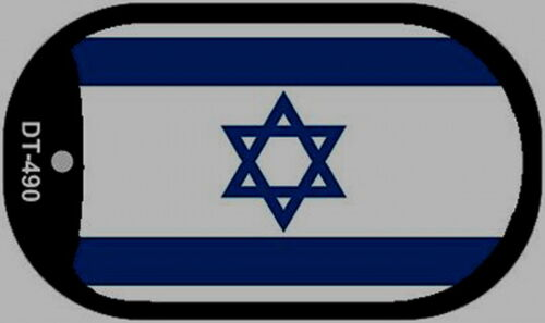 ISRAEL flag military style DOG TAG NECKLACE