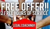 FREE LEGAL COACHING!! Limited Time