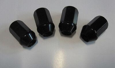 4 Stück Alu-Radmuttern M12x1,25 schwarz eloxiert