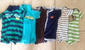 3 month size - tshirt/shorts onesies - Carters