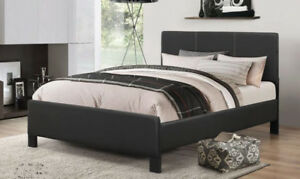 AMAZING DEAL PU-LEATHER BED WITH SPRING MATTRESS - FREE DELIVERY