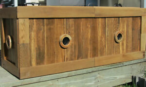 Decorative wooden worm composters