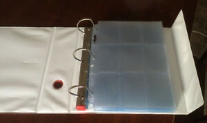 """3"""" Free-Standing Binder with 100 9-Pocket Sport Card Pages Prince George British Columbia image 2"""