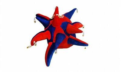 Rot und Blau Unterstützer Jester Hut (Jester Hut Kostüm)