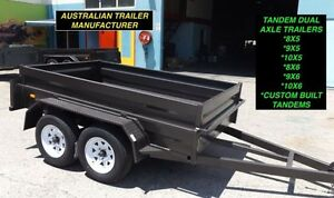 AUSSIE BUILT 9x5 HEAVY DUTY TANDEM TRAILERS NEW TYRES & RIMS Inverell Area Preview