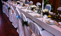 PROMOTION: $6.00 Table Cover Rentals until July 31st!