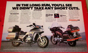 1986 HONDA GOLDWING MOTORCYCLES VINTAGE BIKE AD - ANONCE MOTO