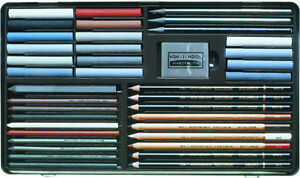 Large Koh i Noor Art set 8891 with pastels and sketching pencils