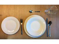 Brand New Unused Dinner Set - Crockery and Cutlery Set - Plates Glasses Cutleries Fruit Basket