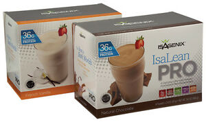 Box of Isagenix IsaLean Pro Vanilla or Chocolate