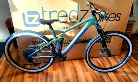 Cube stereo 120 T full suspension carbon 29er mountain bike large