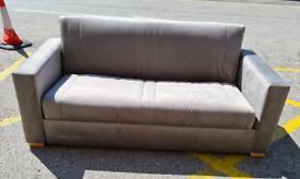 Brand New Darlings Of Chelsea Launceston 3 Seater Sofa Bed In Grey Vel